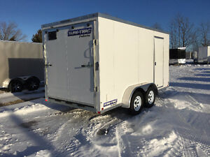 7x14 Enclosed Galvanized Trailer Made by Sure Trac