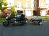 Motorcycle trailer tow trailer or small utility trailer