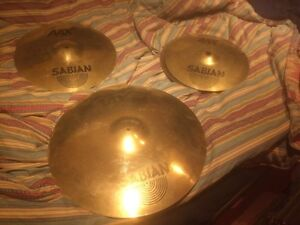 Ensemble Sabian AAX Stage series Ride+Hi hat+ Crash