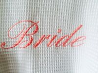 Bride white waffle dressing gown
