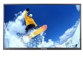 "HITACHI 32HXC05U 32"" LED TV HD READY WITH FREEVIEW 2 X HDMI For Parts or Repair"