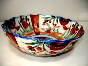 1868 – 1912 very early IMARI BOWL scalloped MEIJI PERIOD Cambridge Kitchener Area image 4