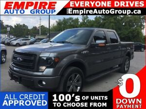 2014 FORD F-150 PLATINUM * 4WD * LEATHER * NAV * REAR CAM * SUNR