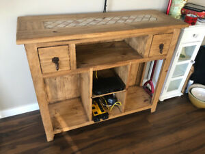 real wood tv stand