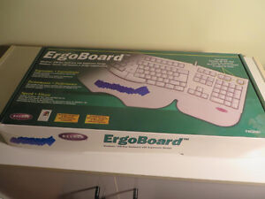 NEW PRICE - Belkin Ergonomic Keyboard - Full Size, Light Beige