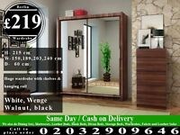 STRONG FULL MIRROR SLIDING WARDROBE DOORS HAVY QUALITY Melcher