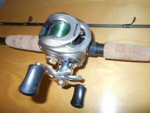 Canne moulinet baitcaster Octane, comme neuf, Fish rod reel