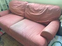 Peachy/Terracotta Large 2 Seater Sofa