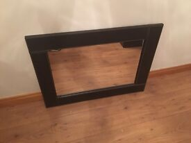 Faux Leather Brown Mirror