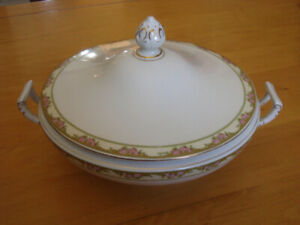 antique covered  vegetable dish