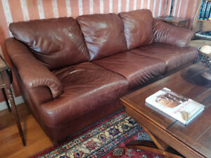 Premium leather couches; avail seperately or as a pair