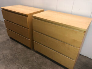 2 Malm DRESSERS - delivery