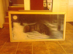 Northern Snow Wolf Painting Canvas XLARGE