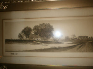 Print signed by artist E.C.Rost. gorgeous frame London Ontario image 1