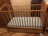 Baby cot, 3 settings with drawer