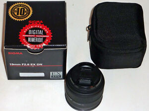Sigma 19mmF2.8 for sony E mount lens