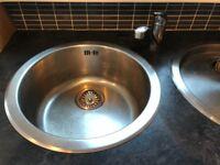 Round Sink & Drainer & Tap
