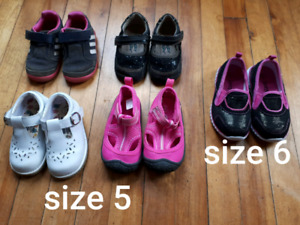 Girl toddler shoes size 5 and 6
