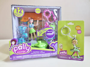 Polly Pocket Hula-licious Dance 'n Groove Doll and Keychain