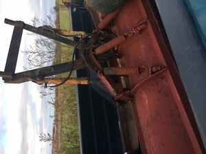 Snow plow blade and harness