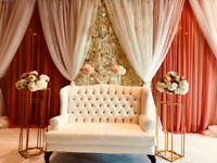 Love seat and Mandap furniture rental