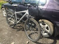 Diamondback men's silver mountain bike,