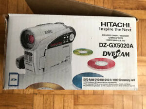 DVD VIDEO CAMERA/RECORDER HITACHI DZ-GX5020A