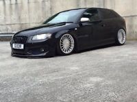 AUDI S3 AIR RIDE 370bhp MILLTEK 2007 STAGE2+ REDUCED!!! PX SWAP AMG RS3 RS4 RS6 R32
