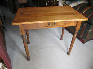 Antique Table with Drawer Refished
