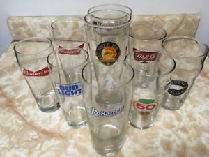 BEER GLASSES (MANY SIZES & STYLES)