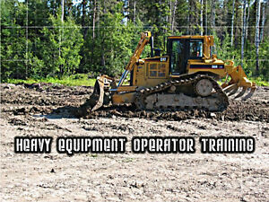 HEAVY EQUIPMENT OPERATOR TRAINING - programs begin APRIL 3rd!!!