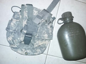 U.S. Army Canteen with MOLLE ACU Digital Camo Cover