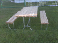 Aluminum Frame Picnic Tables For Sale