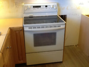 White Stove, Refrigeator, Microwave - All in Great Condition!!