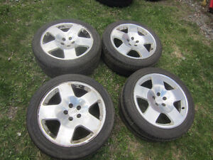 Audi Fat Fives rims with tire