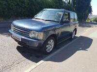 Range Rover Vogue TD6, 12 months Mot, Cairns Blue Metallic with Ivory blue. Excellent cond throught.