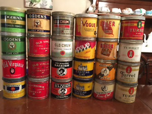 Vintage/antique tobacco cans