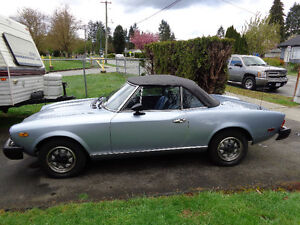 1980 Fiat 124 Spider 2000 Roadster Convertable