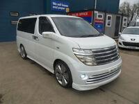 NISSAN ELGRAND E51 3.5 V6 240BHP AUTOMATIC RIDER PEARL WHITE 8 SEATS