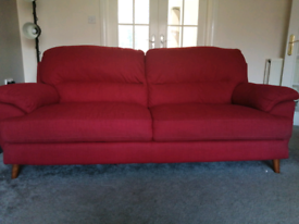 Three seater sofa x 2