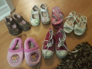 Variety of size 7/8 toddler shoes for sale!!