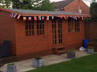 Summer house. Man cave. Garden bar large shed.