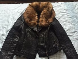 Topshop leather jacket size 10