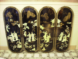 4 MOTHER OF PEARL/BLACK LAQUER PICTURES