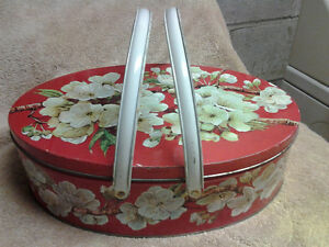 Antique Biscuit Huntley Palmers Blossom Glow England Tin
