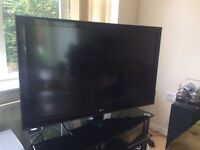 LG 42 inch stand and remote. Mint condition!!