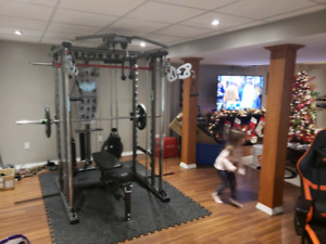 Power Rack , Weights, Awesome Home gym!