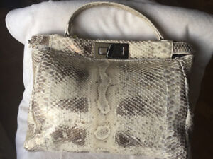 New Python (real) Leather bag from Italy des. By Fendi  peekaboo
