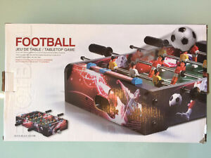 Stokes tabletop foosball/football (new in box) and other stuff