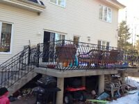 Balcony side iron rails for sale